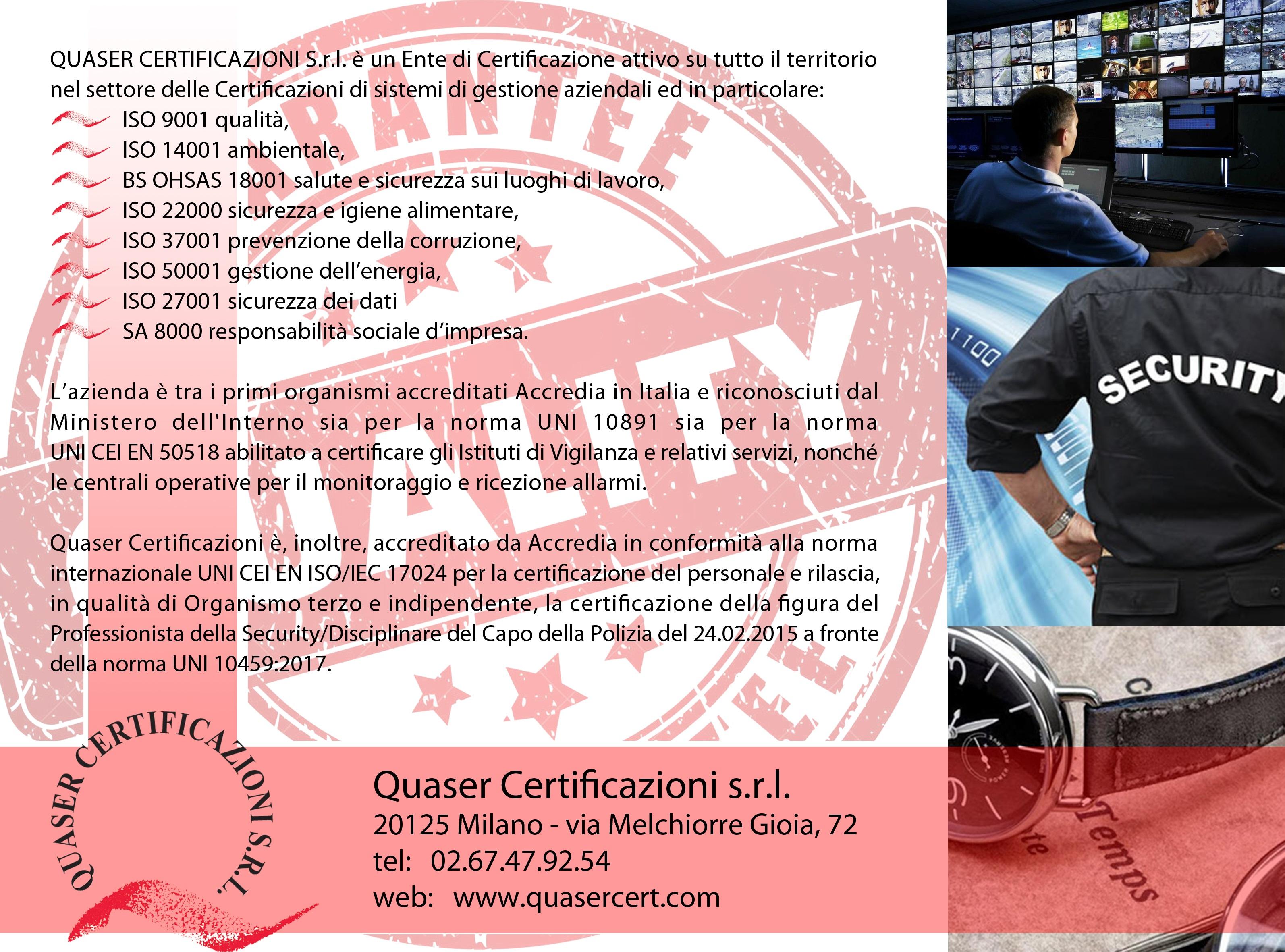 QUASER CERTIFICAZIONI – Ente di Certificazione