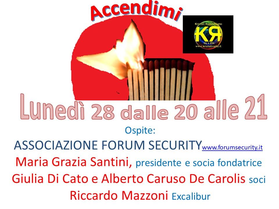 Forum Security su Kristall Radio – 28 gennaio 2019