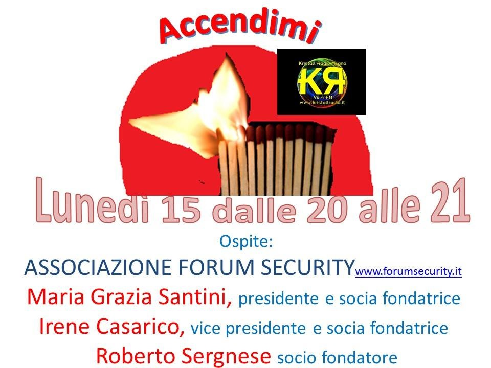 Forum Security su Kristall Radio – 16 gennaio 2018