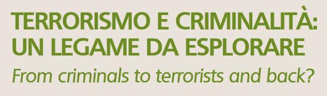 Seminario su terrorismo e criminalità